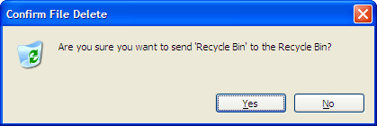 Send recycle bin to recycle bin